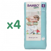Pack ahorro Pañal Bambo maxi T4, 7-14Kg 192 uds