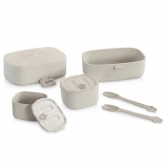 Set vajilla picnic fibra de arroz Naturmeal On-The-Go Miniland