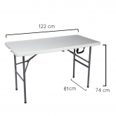 Mesa Plegable Rectangular 122 x 61 x 74 cm