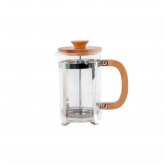 Cafetera inoxidable de bambú émbolo 600 ml