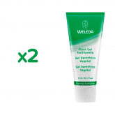 Pack Promo 2uds Gel dentífrico vegetal  Weleda, 75 ml