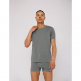 Men's SliverTech Active Tee Stone Grey Organic Basics