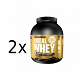 Pack PROMO 2 uds Total Whey Galletas y nata Gold Nutrition 2 kg