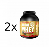Pack PROMO 2 uds Total Whey Fresa Gold Nutrition 2 Kg
