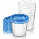 Set de 5 recipientes para leite materno Philips Avent 180 ml