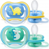 Pack de 2 chupetes Ultra Air Deco +18 meses Philips Avent Menino