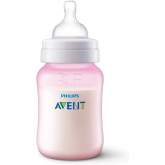 Biberão anti-cólicas de 260 ml Philips Avent Rosa