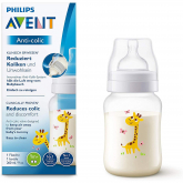 Biberão anti-cólicas Safari de 260 ml Philips Avent Girafa