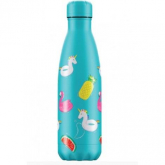 Garrafa Inox Pool party azul Chilly's 500 ml