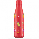 Garrafa Inox Pool party coral Chilly's 500 ml