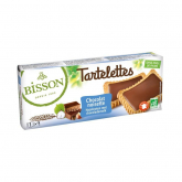 Galleta Tartaleta de Chocolate y Avellanas Bisson 150 gr