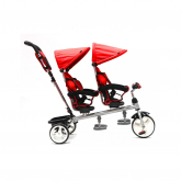 Triciclo Q Play Giro Gemelar Devessport Rojo