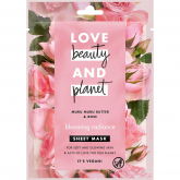 Mascarilla de tejido manteca de muru muru & rosa Radiance Love Beauty & Planet