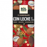 Chocolate com leite de coco Sol Natural 70 g