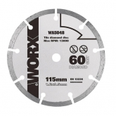 Disco de corte de diamante 115mm para WorxSaw XL