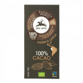 Chocolate 100% cacau Alce nero 50 g