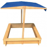 Arenero de madera con toldo regulable de Outdoor Toys