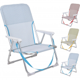 Silla Beach De Aluminio Plegable (colores Variados)