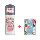 Pack Desodorante Manteiga de muru muru e Rosas Pampering Love Beauty & Planet 50ml + brinde mascarilla facial