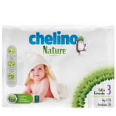 Pañales T3 4-10 kg Chelino Nature 36 unidades