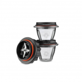 Juego de 2 vasos 225 ml + base cuchillas Vitamix serie Ascent