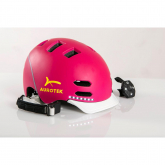 Casco urbano con LED Aurotek Smart rosa