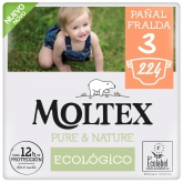 Pack ahorro Pañales Moltex Pure & Nature T3 (4-10 kg) 224 uds