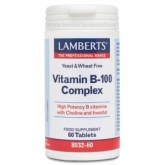 Vitaminas do complexo B-100, 60 comprimidos