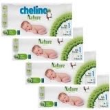 Pack ahorro Pañales T1 1-3 kg Chelino Nature 112 Uds