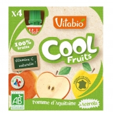 Pouche Cool Fruits Manzana Vitabio, 4 x 90 g