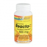 Reacta C 500 mg Solaray, 60 cápsulas