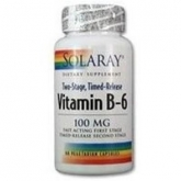 VIT. B6 100MG. 60CAP. SOLARAY