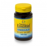 Omega-3 500 mg (EPA 35% DHA25%) Nature Essential, 50 pérolas