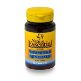 Vitaminas e Minerais 600 mg, Nature Essential, 60 cápsulas