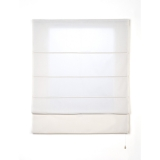 Estor plegable con varillas Blanco
