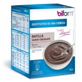 Natillas sustitutivas sabor chocolate Biform, 6 sobre