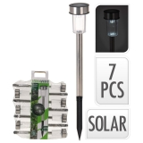 Set de 7 lâmpadas LED solares
