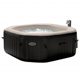 Spa octogonal borbulhas y jets 200 x 71 cm preto Intex