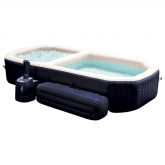 Spa borbulhas e piscina com bancos Intex