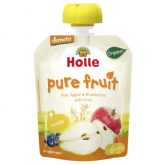 Smoothie BIO de pêra, maçã, mirtilo e aveia Holle, 90 g