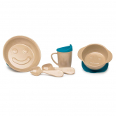 Conjunto vajilla infantil Ecofriendly  fibra de arroz, The Dida World