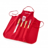Set 4 piezas + delantal Barbecook