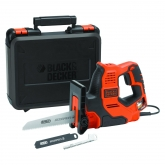Serra Scorpion 500W AutoSelect + 3 lâminas e maleta  Black+Decker RS890K-QS