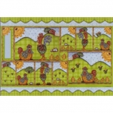 Papel decoupage gallos