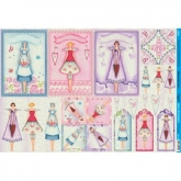 Papel decoupage mujeres postales