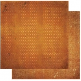 Papel scrapbooking vintage burnt orange Bobunny 30x30cm