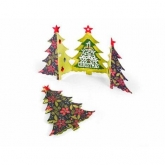 Set 6 cortantes Card Christmas tree fold-a-long Thinlits Sizzix