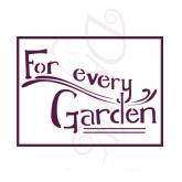 "Stencil Din A5 Dayka ""for every garden"" V-00284"