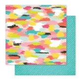 Papel Fancy Free 30 x 30 cm American Crafts Pink Paislee