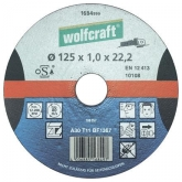Disco de corte metal para amoladora 1,6mm Wolfcraft